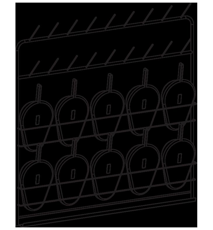 Závesná stena na podložné misy NEREZ50-15
