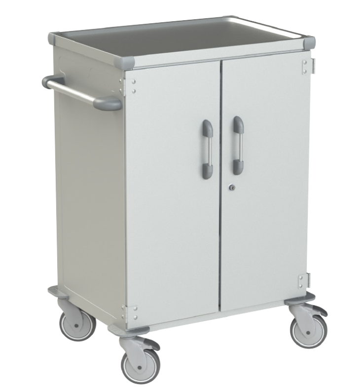 Pojazdná skriňa na sterilizačné kontajnery
