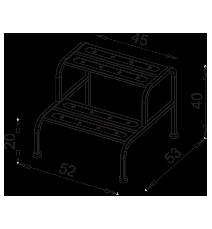 PRedná strana: Nerezové schodíky NEREZ1042
