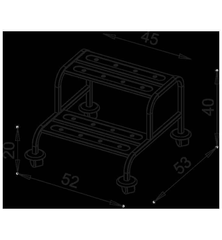 PRedná strana: Nerezové schodíky NEREZ1044