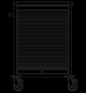 Pojazdná skrinka s roletou ZV1390N