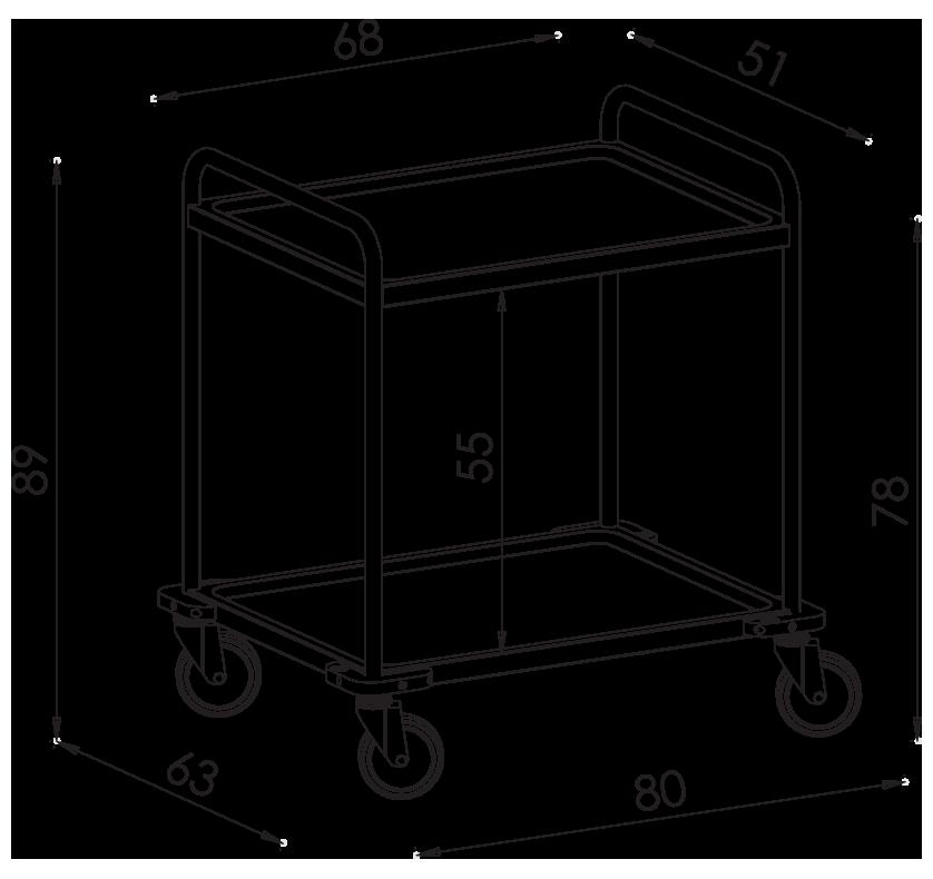 PRedná strana: Transportný vozík NEREZ2601