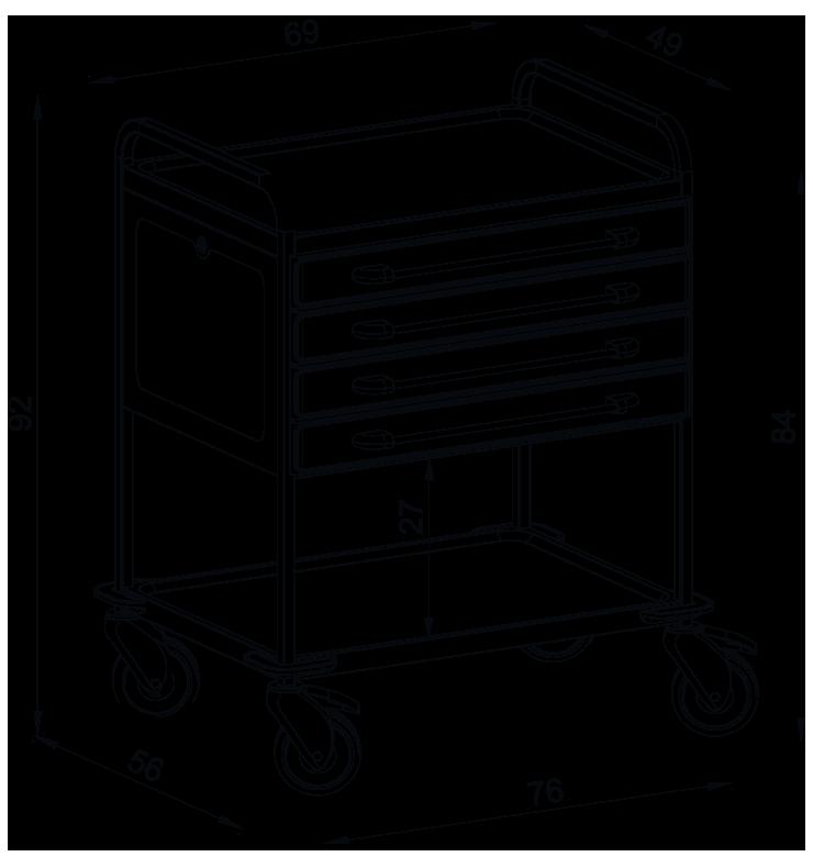 PRedná strana: Viacúčelový vozík NEREZ2725