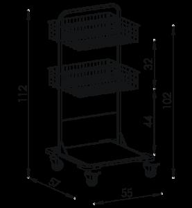 Pojazdný stojan košový NEREZ5002