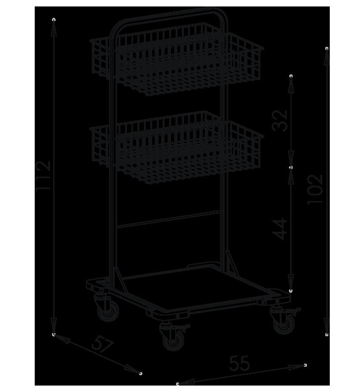 PRedná strana: Pojazdný stojan košový NEREZ5002