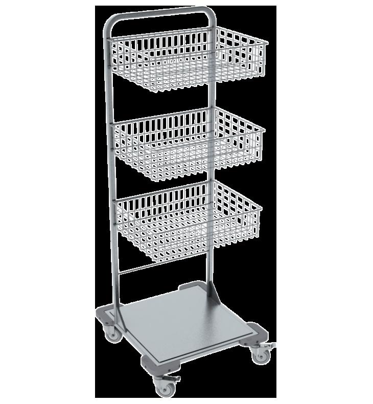 Pojazdný stojan košový NEREZ5004