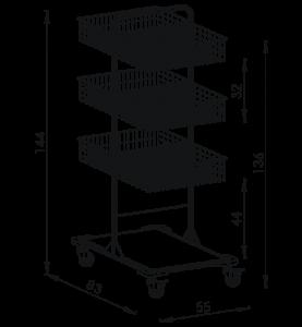 Pojazdný stojan košový NEREZ5012
