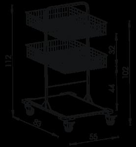 Pojazdný stojan košový NEREZ5014