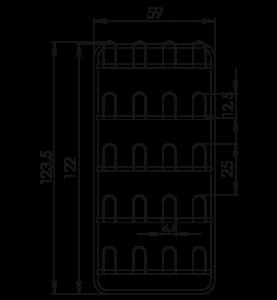 Závesná stena prezuvková NEREZ5090