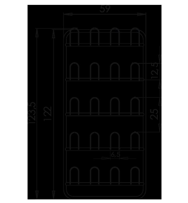 PRedná strana: Závesná stena prezuvková NEREZ5090