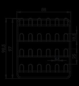 Závesná stena prezuvková NEREZ5091