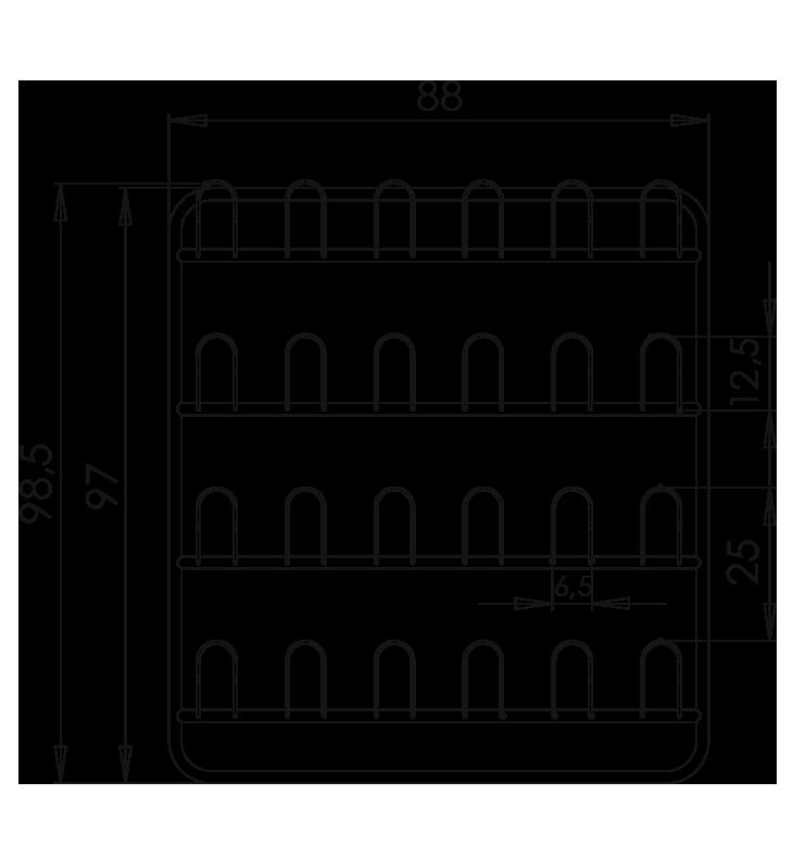 PRedná strana: Závesná stena prezuvková NEREZ5091