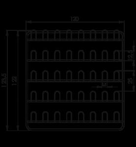Závesná stena prezuvková NEREZ5092