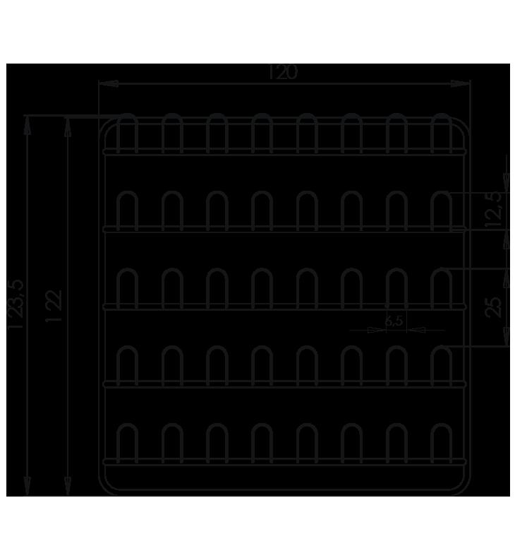 PRedná strana: Závesná stena prezuvková NEREZ5092