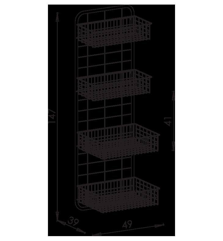 PRedná strana: Závesná stena košová NEREZ5103