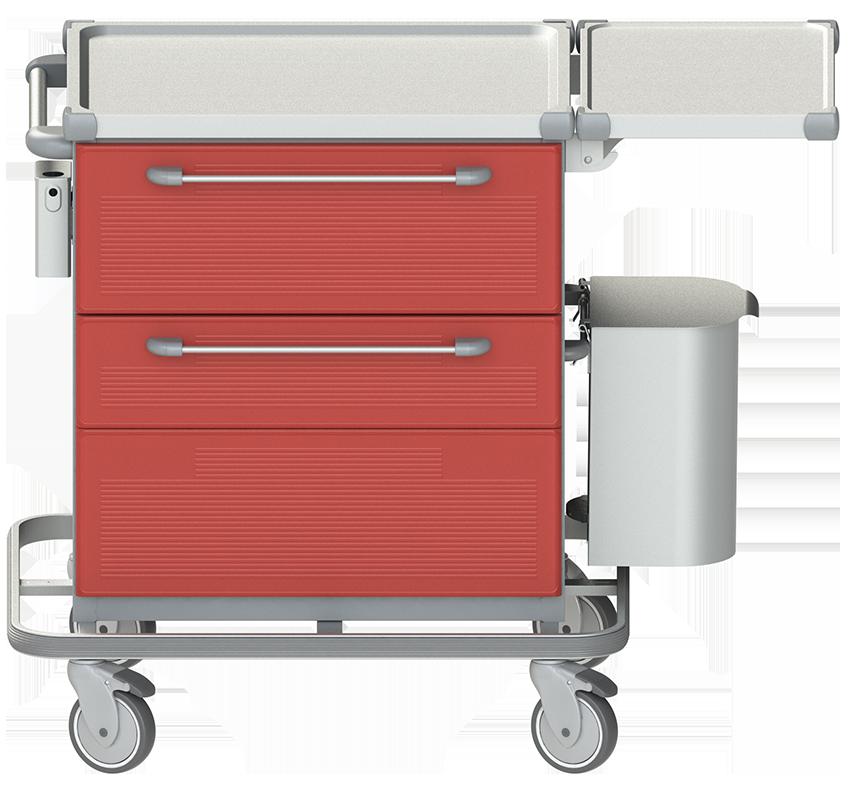 PRedná strana: Vizitový vozík VZX 3
