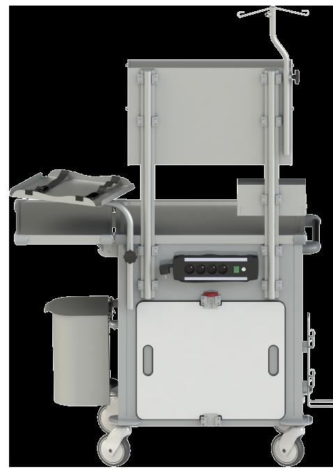 Zadná strana: Resuscitačný vozík RSX 1