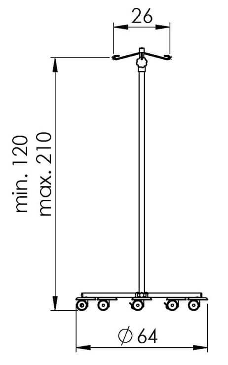 PRedná strana: Infúzny stojan NEREZ1002