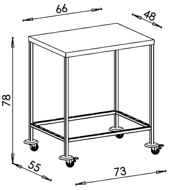 PRedná strana: Nástrojový vozík NEREZ2051