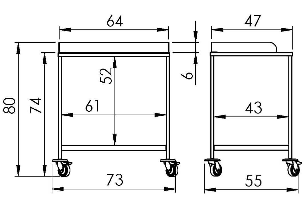 PRedná strana: Nástrojový vozík NEREZ2053