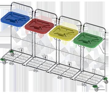 Vozík na prádlo VAKO 120C/4N