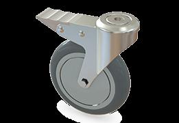 125 mm kovové kolieska (samostatne brzdiace)