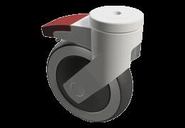 125 mm plastové kolieska (samostatne brzdiace)